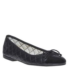 Prezzi e Sconti: #Ballerine in pelle con cuciture Nero  ad Euro 49.99 in #Bata #Donna tutte le scarpe