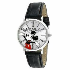 Disney Women's MCK493 Mickey Mouse Modern Black Strap Watch Disney. $22.99
