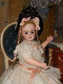 Very Pretty Grand Size French Bisque Close Mouth Bebe - WhenDreamsComeTrue #dollshopsunited