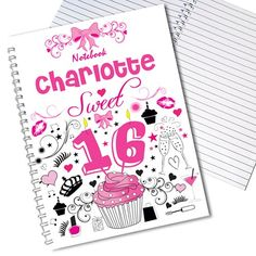 Personalised Sweet 16 Notebook  from Personalised Gifts Shop - ONLY £6.99
