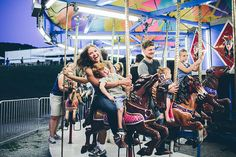 carousel ride family session