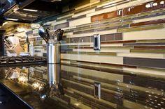 Kitchen Splash completed by Dannburg Floor Coverings. Next At Home, Home Improvement Projects, Backsplash, Tile, Flooring, Kitchen, Mosaics, Cuisine, Kitchens