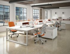 Open working space with Leap chairs.