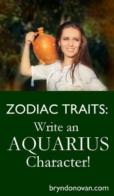 Use the personality types of zodiac (Aquarius) signs to inspire character development in your novel. Writing Lists, Writing Resources, Writing Help, Writing Skills, Writing A Book, Writing Prompts, Zodiac Characters, Writing Characters, Zodiac Traits