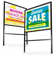 Garage Sale sign designs by Jeremy Perez-Cruz. Wish these were offered as templates!