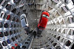 austadt vw car tower germany