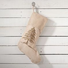 The Holiday Aisle Sapin De Noel Christmas Tree Stocking Color: Gold