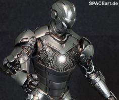 Iron Man 2: Mark II Armor Unleashed - Deluxe Figur, Fertig-Modell, http://spaceart.de/produkte/irm001.php