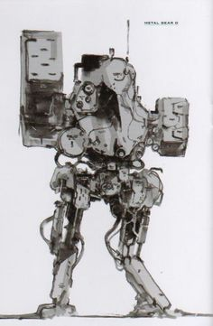 """""""Metal Gear"""" by Yoji Shinkawa*   © Konami Corporation*  • Blog/Website   (https://www.konami.com) • Online Store   (https://www.konami.com/shop)   ★    CHARACTER DESIGN REFERENCES™ (https://www.facebook.com/CharacterDesignReferences & https://www.pinterest.com/characterdesigh) • Love Character Design? Join the #CDChallenge (link→ https://www.facebook.com/groups/CharacterDesignChallenge) Share your unique vision of a theme, promote your art in a community of over 50.000 artists!    ★"""