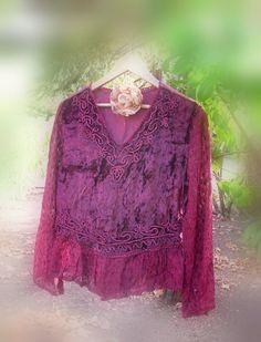 Velvet Pomegranate Sorbet  Romantic Gypsy Blouse / by KheGreen