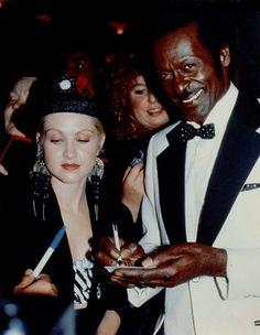 Cyndi Lauper and Chuck Berry