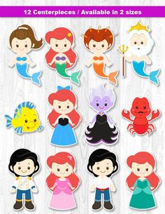 Items similar to Litte Mermaid Decorations, Little Mermaid Centerpiece, Mermaid Table Centerpiece, Mermaid Cake Topper on Etsy Felt Crafts, Diy And Crafts, Paper Crafts, Little Mermaid Parties, The Little Mermaid, Little Mermaid Clipart, Felt Dolls, Paper Dolls, Little Mermaid Centerpieces
