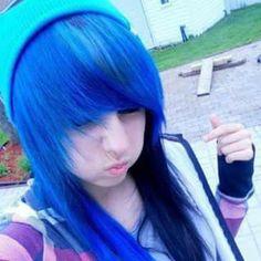 . Scene Girl Hair, Scene Girls, Emo Hair, Alternative Fashion, Girl Hairstyles, Tie Dye, Google Search, Women, Blue