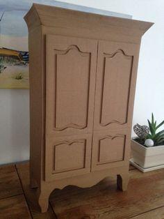 boite de rangement en carton style armoire normande