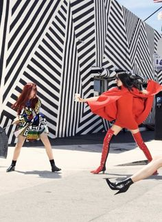 Xiao Wen Ju & Models by Elaine Constantine for Vogue China November 2015