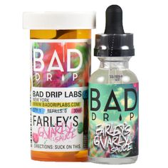 Bad Drip E-Juice Farley's Gnarly Sauce - Based off the recipe older than Bob Ross's paintbrush, we pile-drived tangy kiwi into the heart of psychedelic strawberries dipped in a light bubblegum nectar.