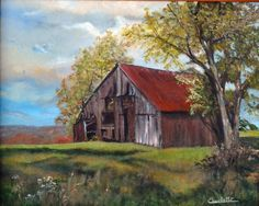 Barn Pictures, Pictures To Paint, Watercolor Barns, Old Farm Houses, Barn Houses, Barn Art, Country Landscaping, Country Art, Old Barns