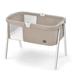 The stylish Chicco Lullago Bassinet is easy to clean, sets up in seconds and is for newborns and babies weighing up to 20 lbs. or up to 6 months old.