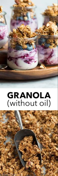 Oatmeal Recipes, Snack Recipes, Easy Recipes, Easy Granola Recipe, Vegan Granola, Homemade Oatmeal, Food Porn, On The Go Snacks, Gastronomia