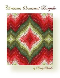 Christmas Ornament bargello quilt by Becky Botello | Quilting Pattern
