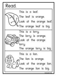 Read Reading Comprehension Worksheets, Phonics Reading, Teaching Phonics, Reading Passages, Kindergarten Reading, Kids Reading, Teaching Reading, English Lessons For Kids, English Worksheets For Kids