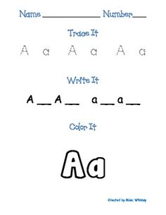 Literacy From A to Z! 130 Pages of Alphabet Activities for Pre-K or K students!