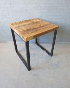 Reclaimed Industrial Chic Wood & Steel Bar Restaurant Cafe Table.Retro,Custom