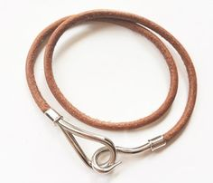 Hermes Hook Palladium Leather Bracelet /Choker. Get the lowest price on Hermes Hook Palladium Leather Bracelet /Choker and other fabulous designer clothing and accessories! Shop Tradesy now