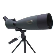 NIPON 25-125x92 Powerful Spotting Scope. This scope has adjustable 25-125x zoom power and a large 92mm lens. It's ideal for a wide range of applications such as bird watching, nature/wildlife observations, sightseeing, target shooting, as well as for astronomical observations.