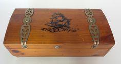 Vintage Wood Cedar Chest Accessory Keepsake by shoponwebstreet