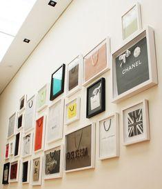 Designer bags framed