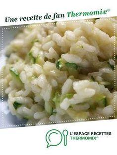 Risotto aux courgettes par solfea. Une recette de fan à retrouver dans la catégorie Pâtes & Riz sur www.espace-recettes.fr, de Thermomix®.