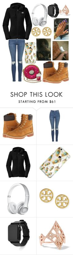 """happy easter"" by kaycameron ❤ liked on Polyvore featuring Timberland, Topshop, The North Face, Tory Burch, Rebecca Minkoff and Carbon & Hyde"