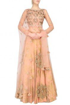 Bhumika Sharma Earthy Pink Embroidered Lehenga Set #happyshopping #shopnow #ppus