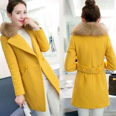 >> Click to Buy << Latest Autumn Winter Fashion Women Slim Leisure Thickening High-end Cashmere Coat Warm fur collar Big Yards Size S-2XL V011 #Affiliate