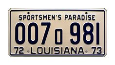 Pin By Tracy Rodgers On Home Decor License Plate Jaws Movie Louisiana