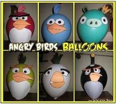 All Angry Birds Crafts  templates for decorating balloons