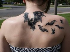 13 Batty Bat Tattoo Designs - http://stylewu.com/13-batty-bat-tattoo-designs.html