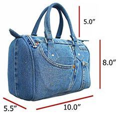 Buy Classic Blue Denim Jean Doctor Style Women Handbag (LL and More Discount Women Top Handle Bags Sale up to off. Denim Handbags, Purses And Handbags, Luxury Handbags, Guess Handbags, Cheap Handbags, Fashion Handbags, Recycle Jeans, Fabric Bags, Blue Denim Jeans