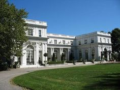 Rosecliff in Newport, Rhode Island,,,the staircase inside was used to film Gone With the Wind.Love the ballroom with French doors on both sides the length of the room that can open to the rose gardens