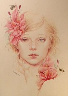 spring by jenniferhealy Colorful Pencil Drawings by Jennifer Healy