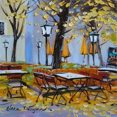 Elena Katsyura, Autumn Cafe