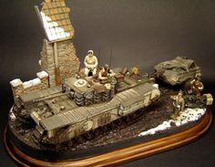 Churchill Mk.VII 1/35 Scale Model Diorama