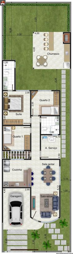 One of the floor plan front rinners Dream House Plans, Small House Plans, House Floor Plans, Small Space Interior Design, Sims House, House Layouts, Architecture Plan, Planer, Home Projects