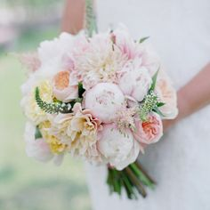 Pink Peony Bridal Bouquet // photo by: Laura Murray Photography // Bridal Bouquet: Cori Cook Floral Design
