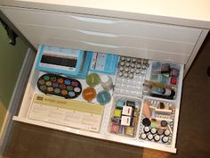 Scrapbook Room Organization, like the separation of products.