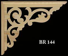 "Victorian Fretwork Bracket  BR 144  19-3/8"" x 15-3/4""  Deluxe 1-3/4"" wide frames  Standard wood = paint grade  $22.00 each"