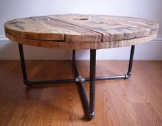 dining table made from old spool