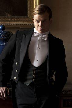 Ed Speleers as Jimmy in 'Downton Abbey'