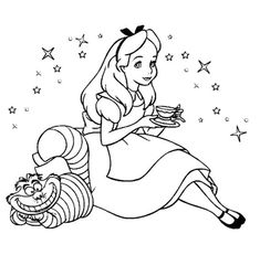 Alice In Wonderland Coloring Pages | Mad Tea party | Pinterest ...